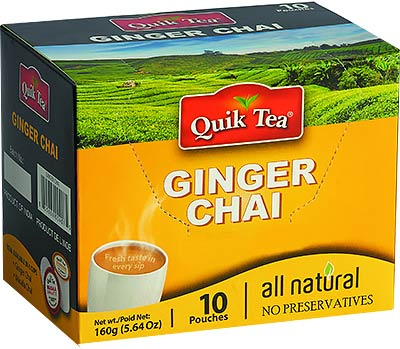 Quik Tea - Instant Ginger Chai (10 Pack)