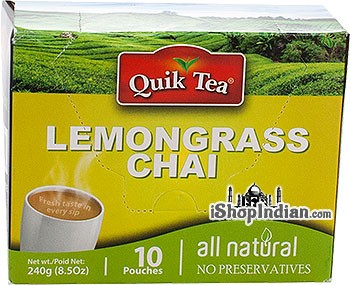 Quik Tea - Instant Lemongrass Chai (10 Pack)