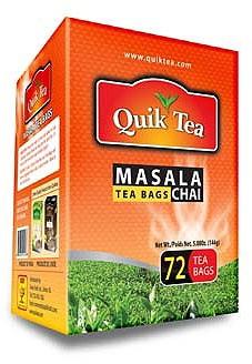 Quik Tea Masala Tea Bags - 72 ct