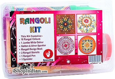 Rangoli Kit with Colors and Stencils