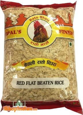 Rato Bhale Red Flat Beaten Rice
