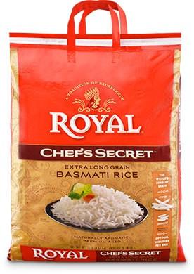Royal Basmati Rice - Chef's Secret - 10 lbs