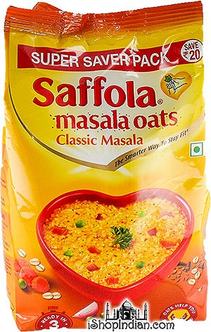 Saffola Masala Oats - Classic Masala (Super Saver Pack) with Free Plastic Bowl