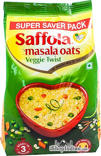 Saffola Masala Oats - Veggie Twist (Super Saver Pack)