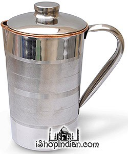 Copper Jug with Lid Outside Stainless Steel -3