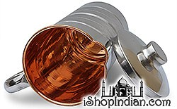 Copper Jug with Lid Outside Stainless Steel -2