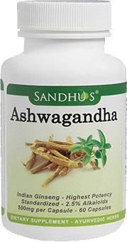 Ashwagandha - Anti-Stress (Sandhu's Ayurveda) -  60 Capsules