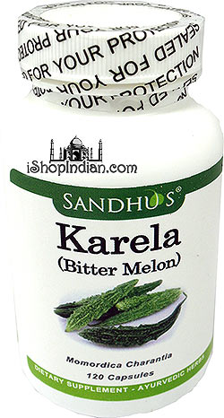 Karela / Bitter Melon - Glycemic & Diabetes Control (Sandhu's Ayurveda) - 120 Capsules