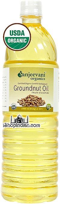 Sanjeevani Organic Groundnut / Peanut Oil - 1 liter