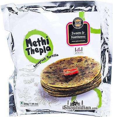 SGB Methi Thepla with Chutney