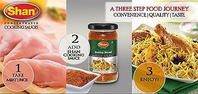 Shan Bombay Biryani Cooking Sauce - three step