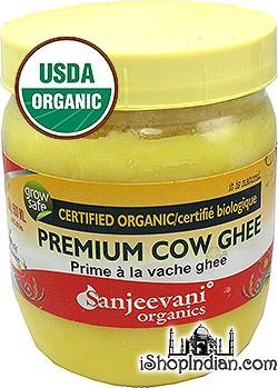 Sanjeevani Organic Premium Cow Ghee - 500 ml (16.9 oz)