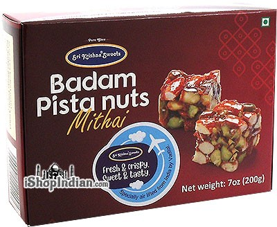 Sri Krishna Sweets Badam Pista Nuts Mithai