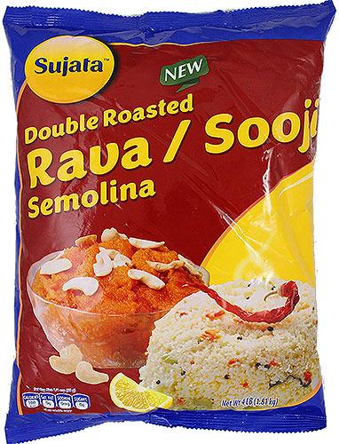 Sujata Double Roasted Rava / Sooji - Semolina - 4 lbs