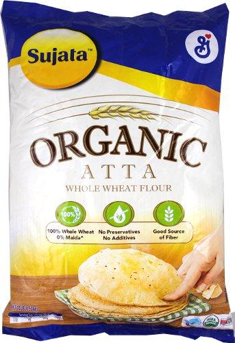 Sujata Organic Whole Wheat Flour (Atta) - 10 lbs