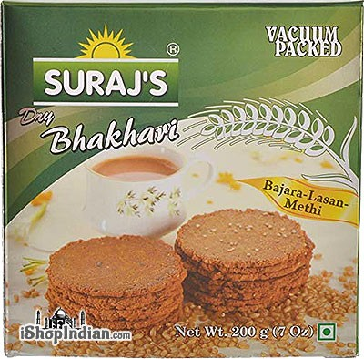 Suraj's Dry Bhakhri Khakhra (Bajara-Lasan-Methi)