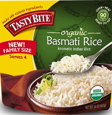 Tasty Bite Organic Basmati Rice - Family Size (Ready-to-Eat)
