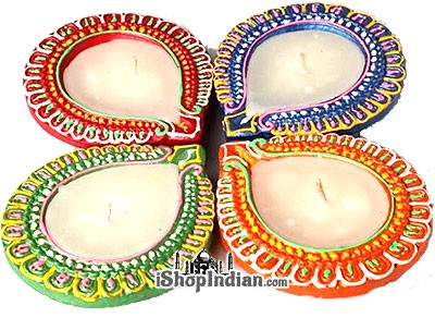 Fancy Teardrop Diya - 4 Pack (#33)