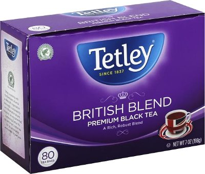 Tetley British Blend - Premium Black Tea Bags - 80 Ct