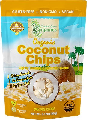 Tropical Green Organics Organic Coconut Chips