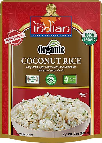 Truly Indian Organic Coconut Rice (Vegan) - (Ready-to-Eat)