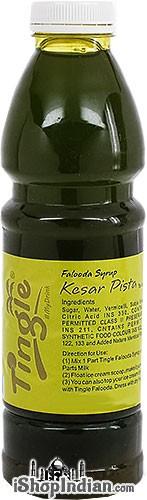 Tingle Falooda Syrup - Kesar Pista Flavour