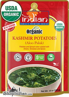 Truly Indian Organic Kashmir Potatoes (Aloo Palak) (Ready-to-Eat)