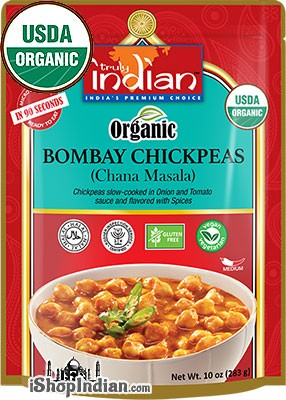 Truly Indian Organic Bombay Chickpeas (Chana Masala) (Ready-to-Eat)