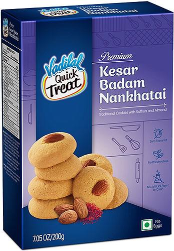 Vadilal Kesar Badam (Saffron & Almond) Nankhatai