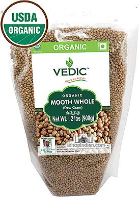 Vedic Organic Moth Whole (Dew Beans)
