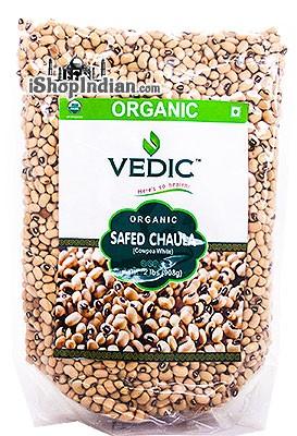 Vedic Organic Black Eye Beans / Safed Chaula - 2 lbs
