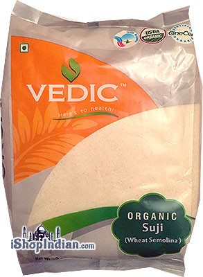 Vedic Organic Wheat Suji (Cream of Wheat - Rawa) Wheat Semolina
