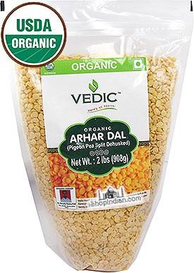 Vedic Organic Toor Dal / Arhar Dal (Dehulled Split Pigeon Peas)
