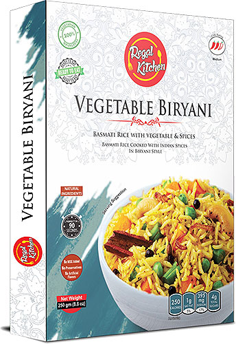 Regal Kitchen Vegetable Biryani (Ready-to-Eat) - BUY 2 GET 1 FREE!