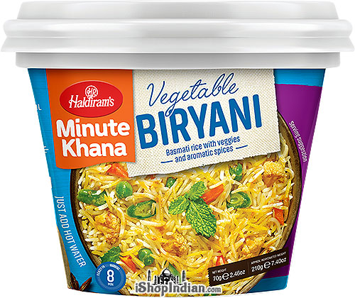 Haldiram's Instant Vegetable Biryani - Basmati Rice with Veggies and Aromatic Spices