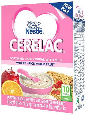 Nestle Cerelac - Wheat, Rice & Mixed Fruit - Stage 3