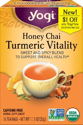Yogi Honey Chai Turmeric Vitality Tea