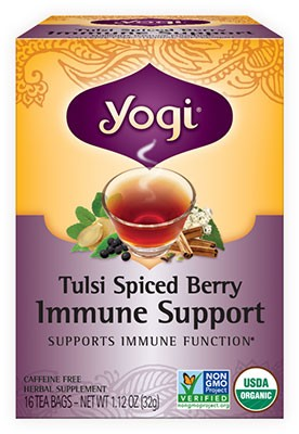 Yogi Tulsi Spiced Berry Immune Support Tea