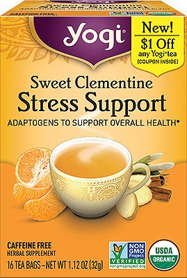 Yogi Sweet Clementine Stress Support (Adaptogens To Support Overall Health)