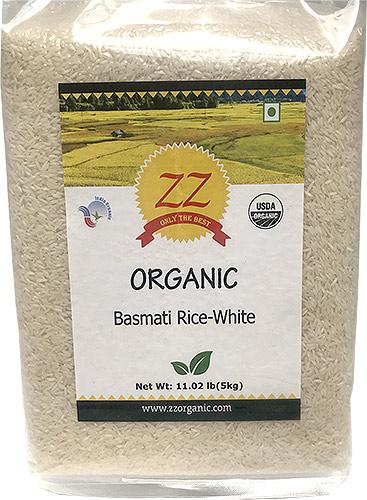 ZZ Organic White Basmati Rice - 11 lbs