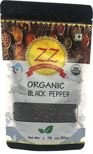 ZZ Organic Black Pepper Whole - 1.75 oz.