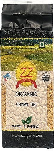 ZZ Organic Chana Dal / Bengal Gram - 2 lbs