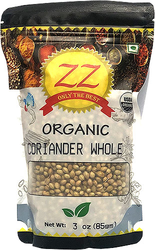 ZZ Organic Coriander Seeds - 3 oz