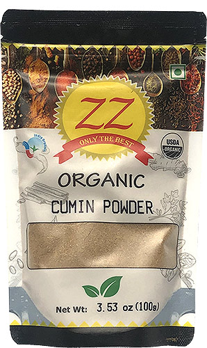 ZZ Organic Cumin Powder - 3.5 oz