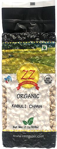 ZZ Organic Chickpeas (Kabuli Chana / Garbanzo Beans) - 2 lbs