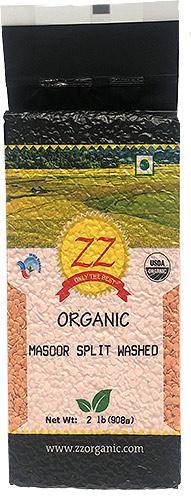 ZZ Organic Masoor Dal (Red Lentil) - 2 lbs