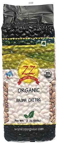 ZZ Organic Rajma Chitra - Speckled Kidney Beans - 2 lbs