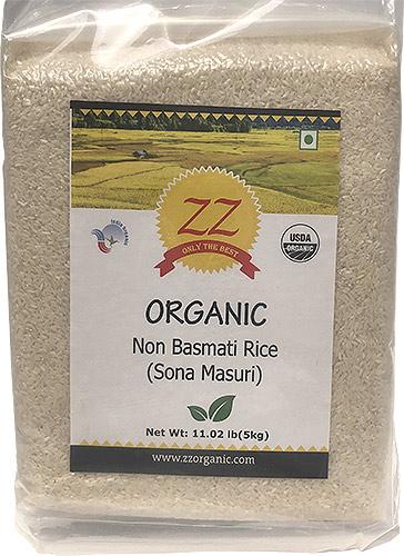 ZZ Organic Sona Masuri Rice - White - 11 lbs