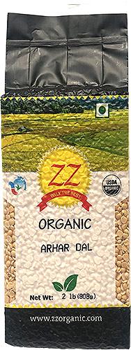 ZZ Organic Toor (Arhar) Dal - 2 lbs