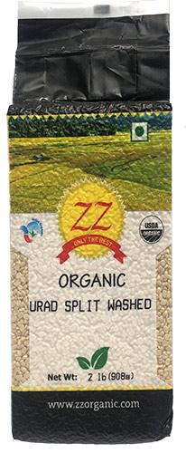 ZZ Organic Urad Split Dal Washed - 2 lbs